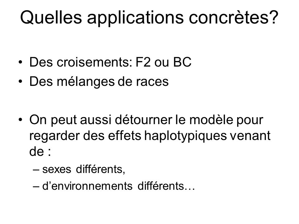 Quelles applications concrètes