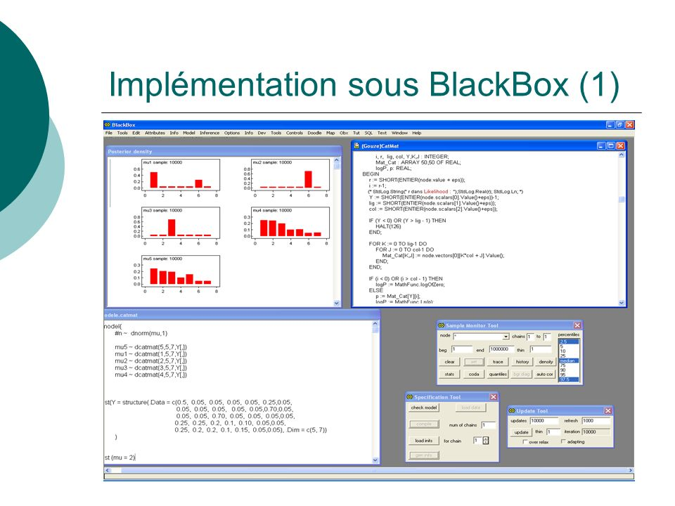 Implémentation sous BlackBox (1)