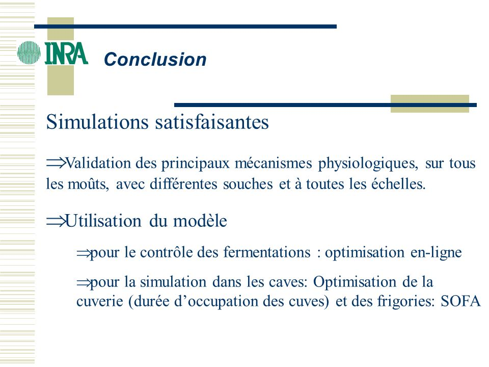 Simulations satisfaisantes