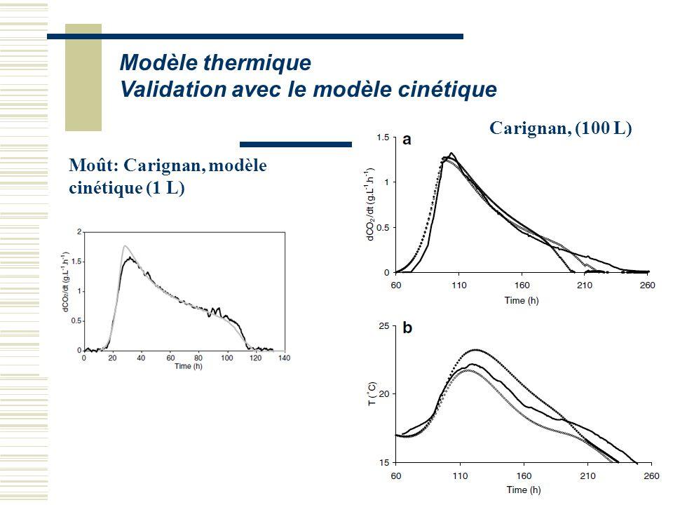 Validation avec le modèle cinétique