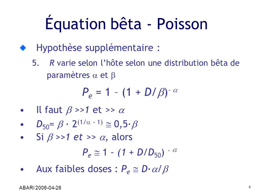 Équation bêta - Poisson