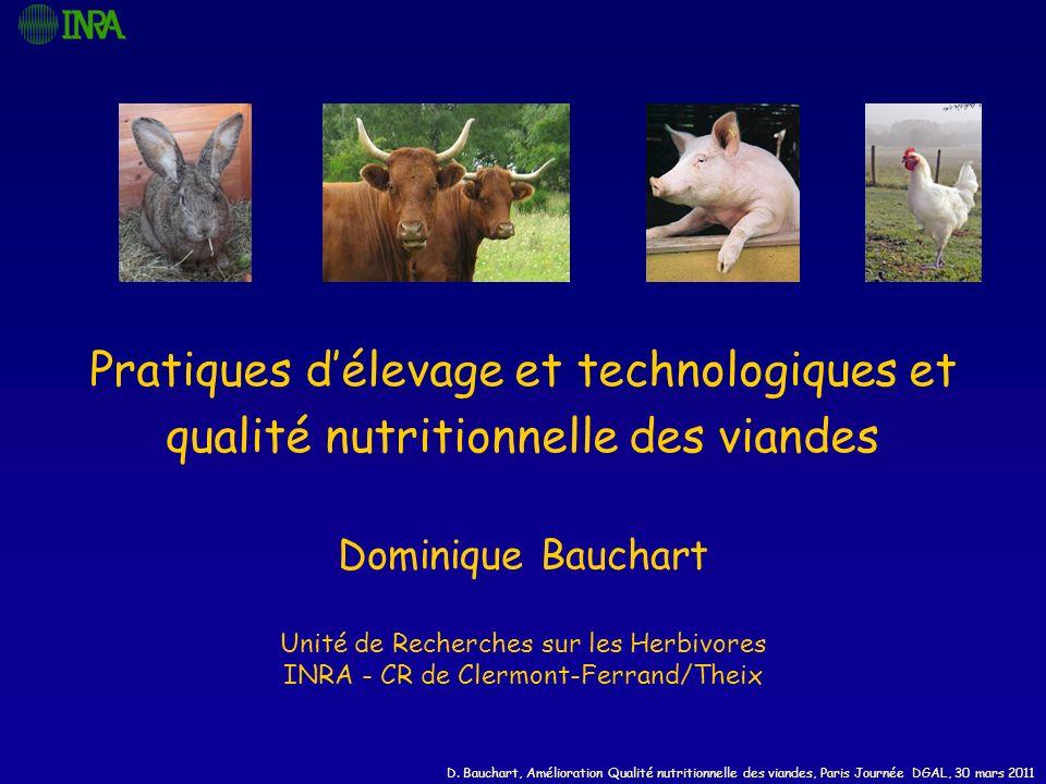 Pratiques d'élevage et technologiques et