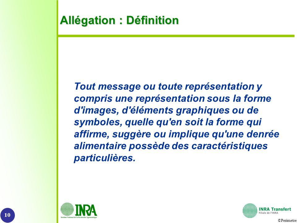 Allégation : Définition