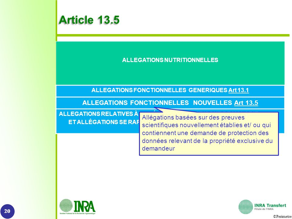 Article 13.5 ALLEGATIONS FONCTIONNELLES NOUVELLES Art 13.5