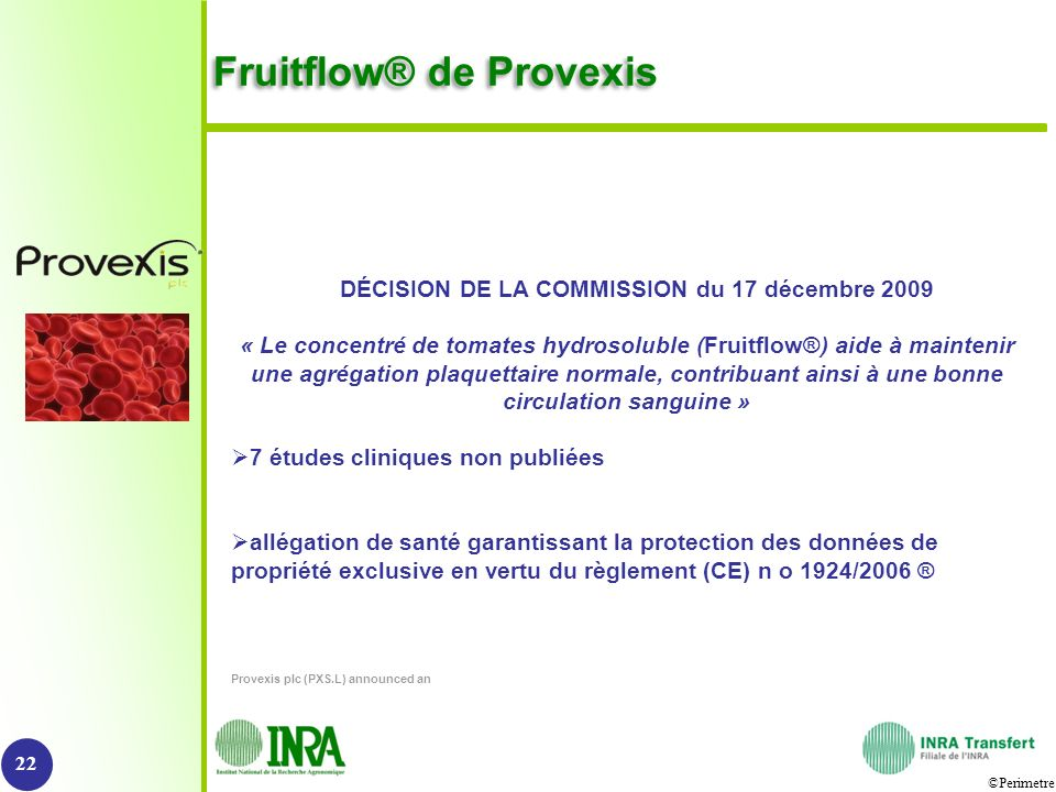 Fruitflow® de Provexis