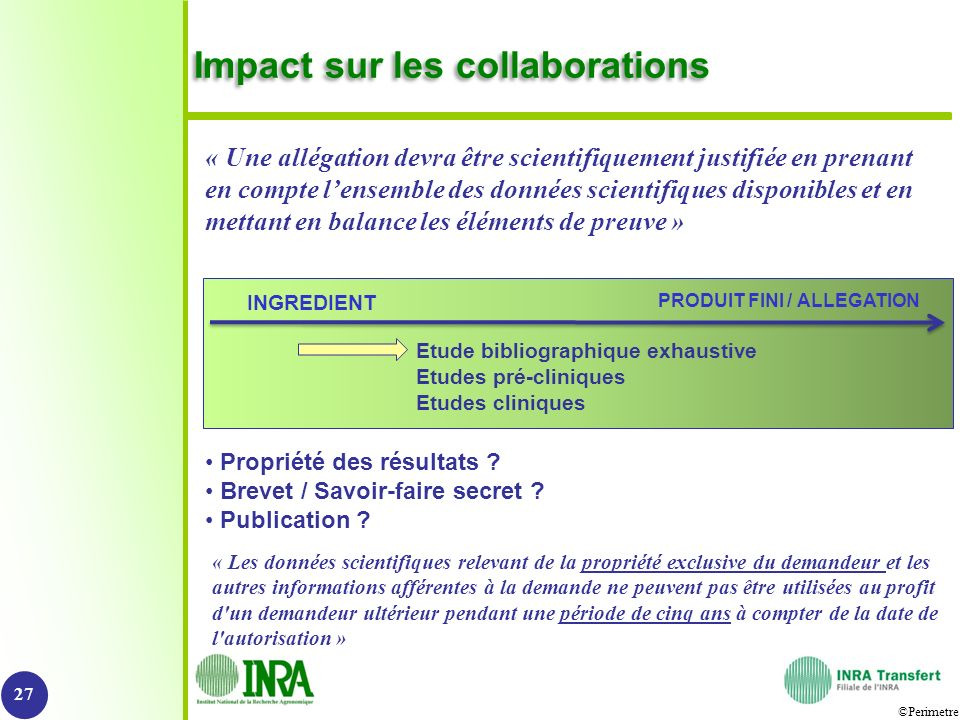 Impact sur les collaborations