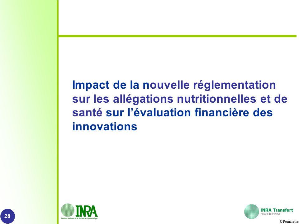 Impact de la nouvelle réglementation sur les allégations nutritionnelles et de santé sur l'évaluation financière des innovations