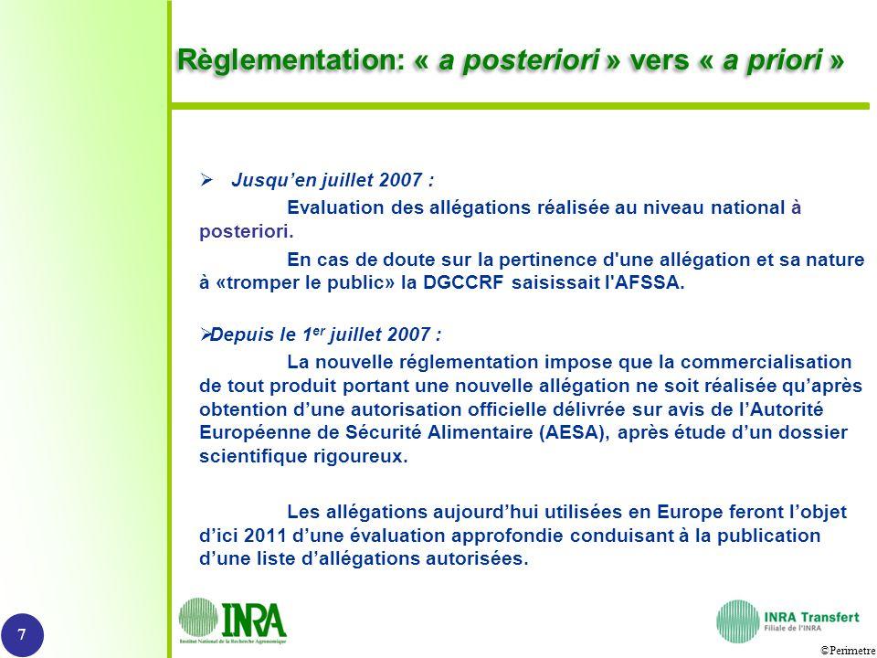 Règlementation: « a posteriori » vers « a priori »