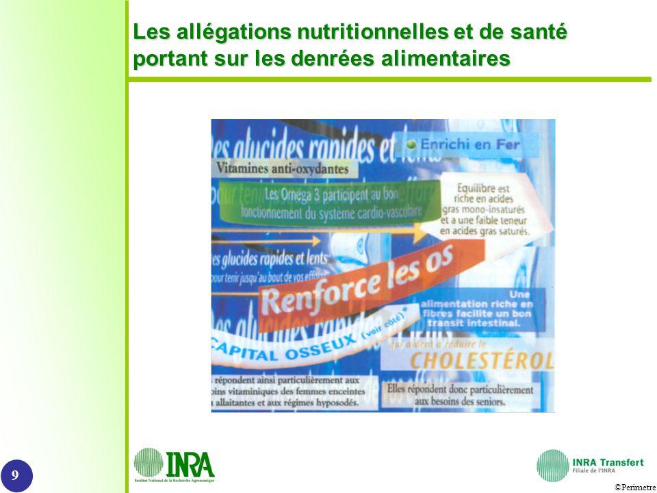 Les allégations nutritionnelles et de santé portant sur les denrées alimentaires