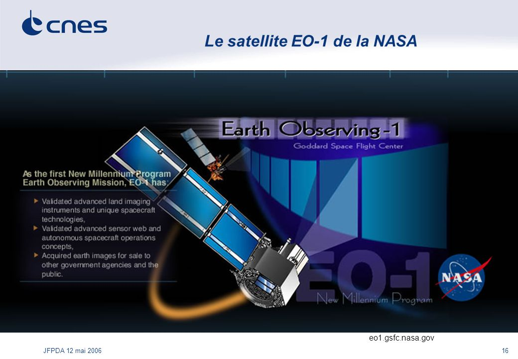 Le satellite EO-1 de la NASA
