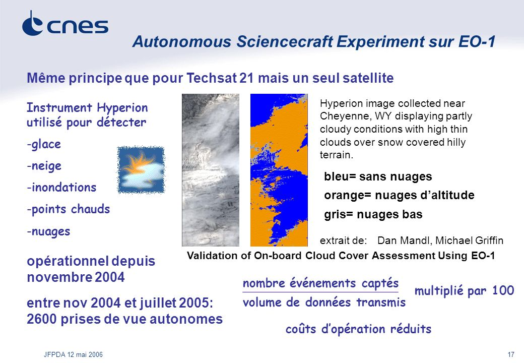 Autonomous Sciencecraft Experiment sur EO-1