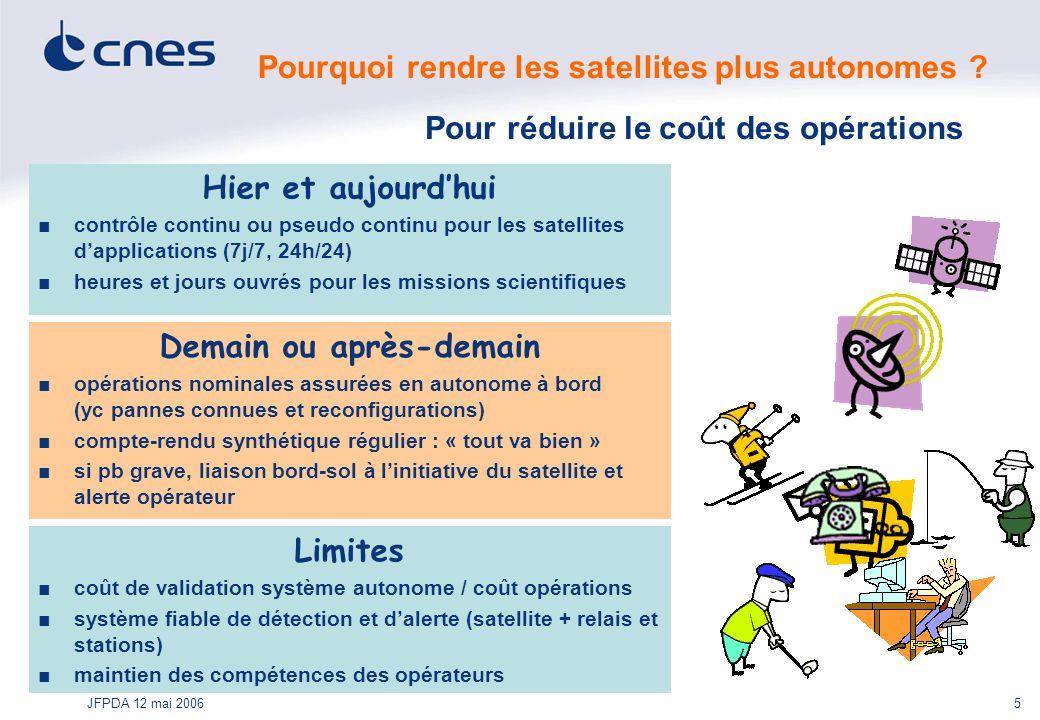 Pourquoi rendre les satellites plus autonomes