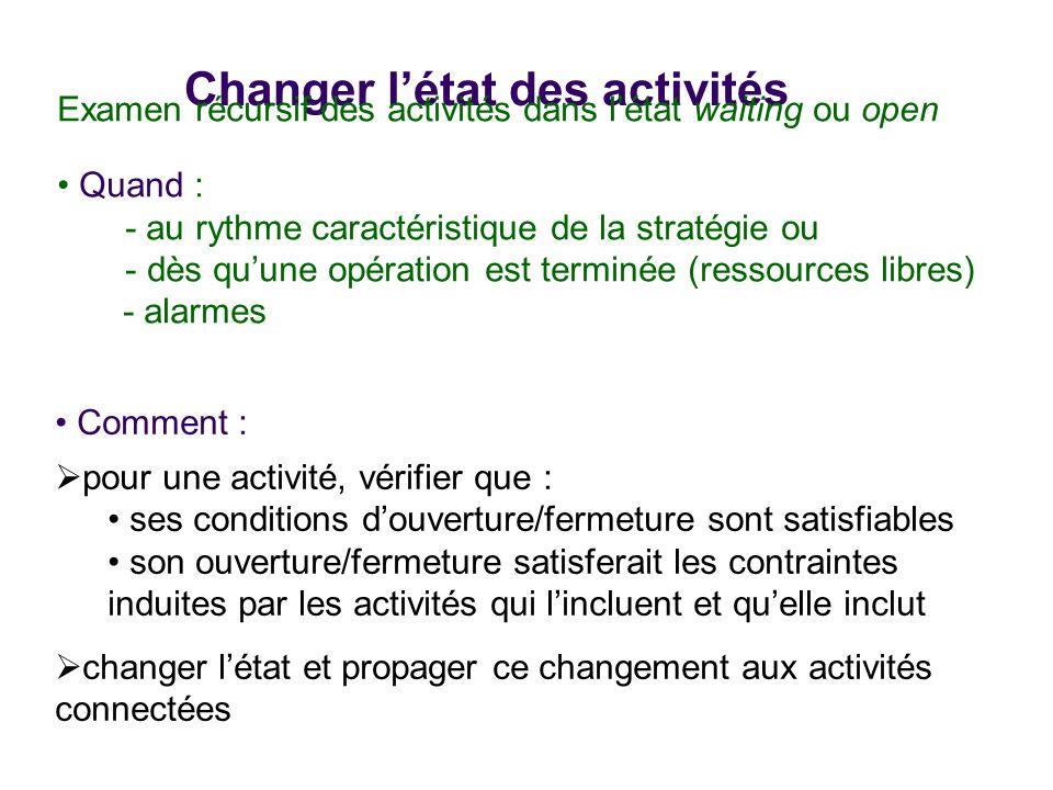 Changer l'état des activités