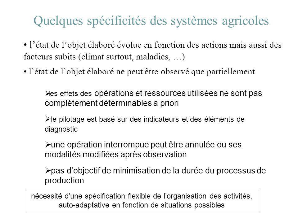 Quelques spécificités des systèmes agricoles