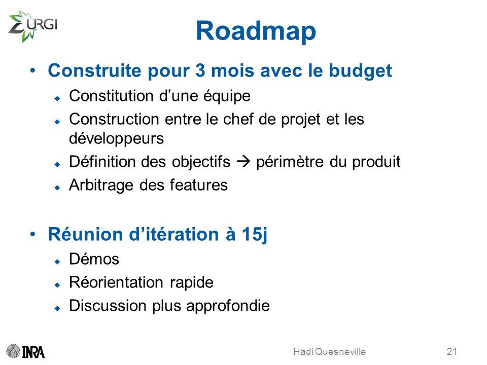 Roadmap Construite pour 3 mois avec le budget