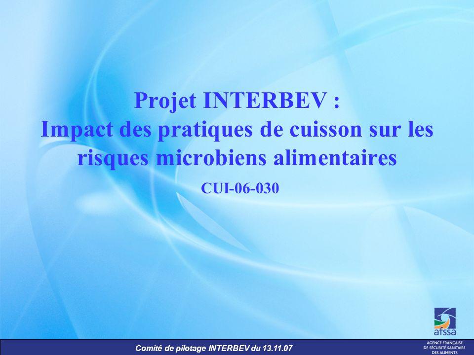 Projet INTERBEV : Impact des pratiques de cuisson sur les risques microbiens alimentaires CUI-06-030