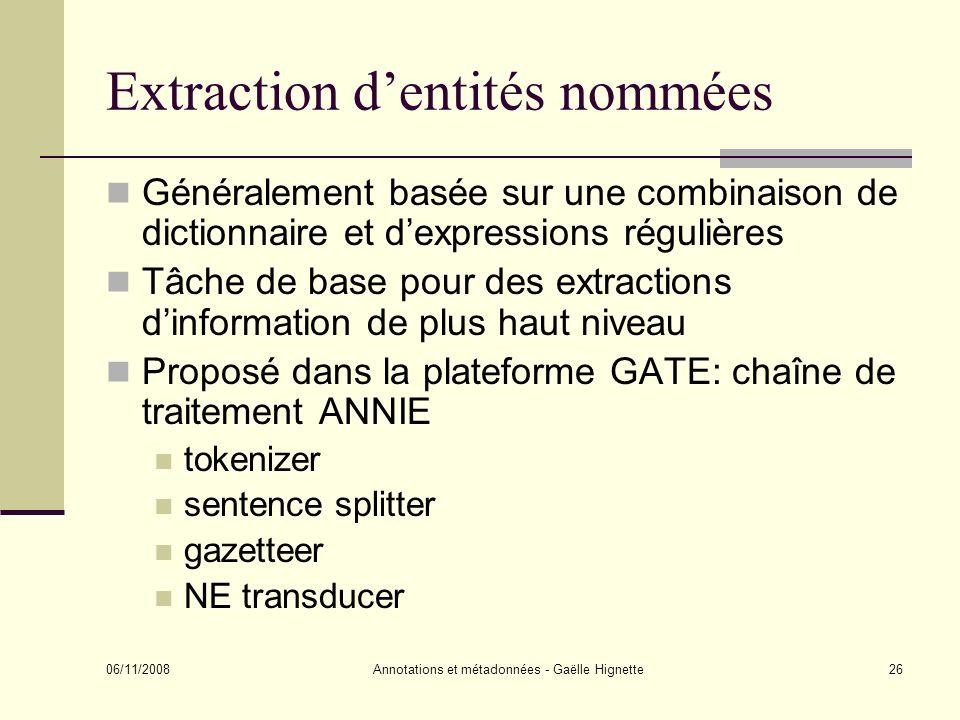 Extraction d'entités nommées