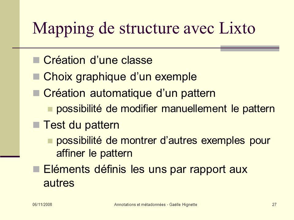 Mapping de structure avec Lixto