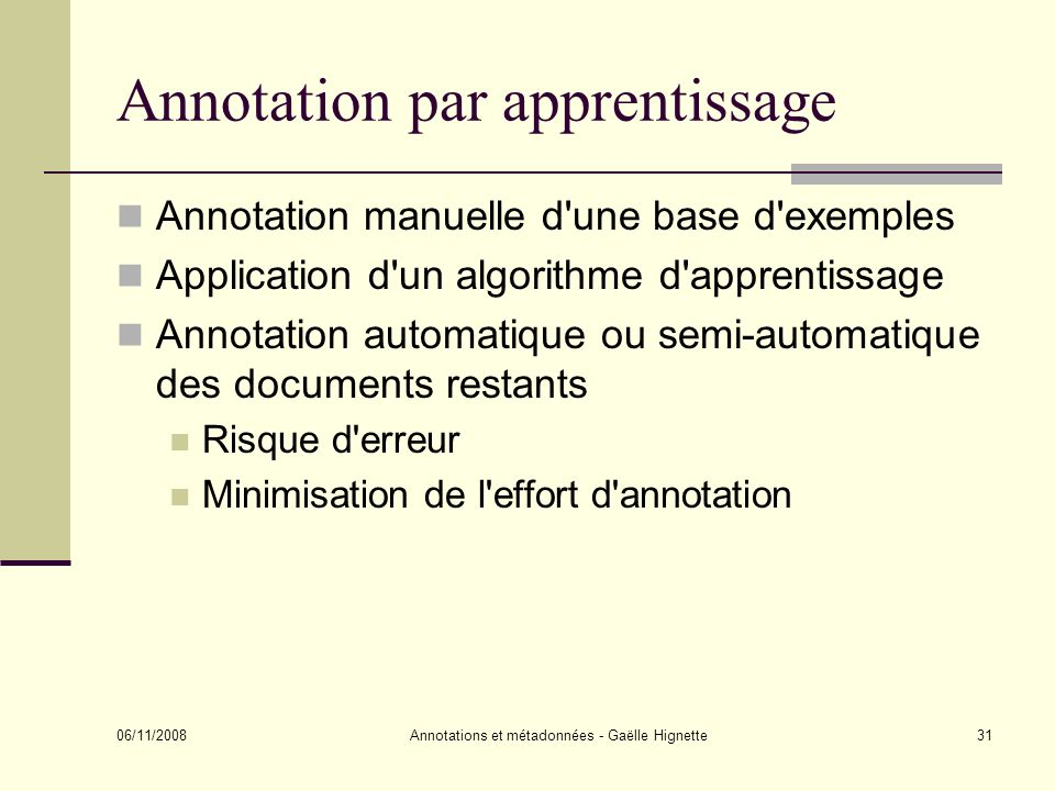 Annotation par apprentissage