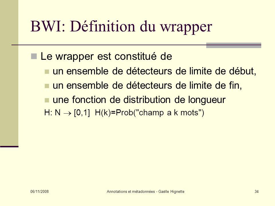 BWI: Définition du wrapper