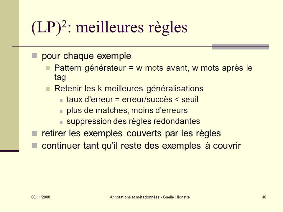 (LP)2: meilleures règles
