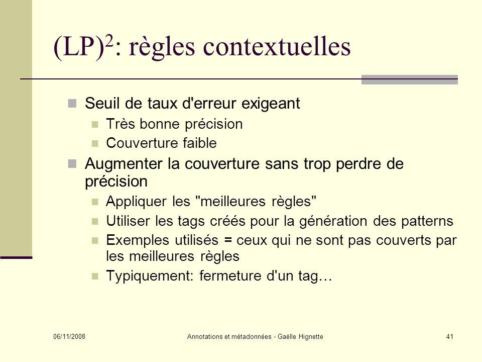 (LP)2: règles contextuelles
