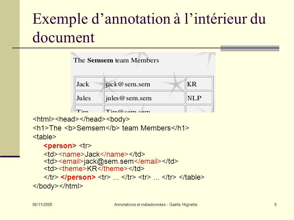 Exemple d'annotation à l'intérieur du document