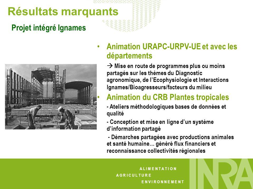 Résultats marquants Projet intégré Ignames
