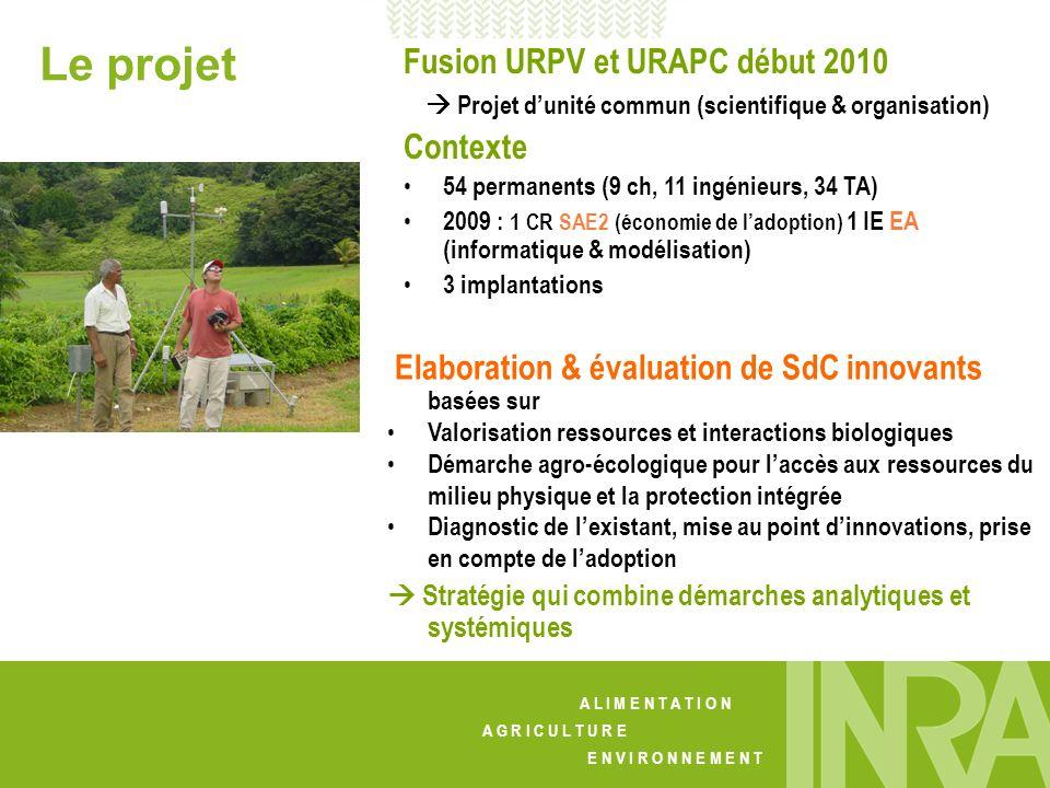 Le projet Fusion URPV et URAPC début 2010 Contexte