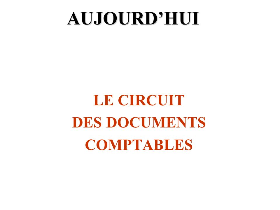 LE CIRCUIT DES DOCUMENTS COMPTABLES