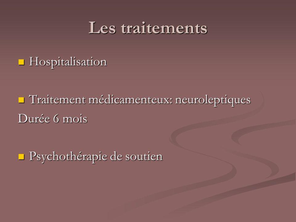 Les traitements Hospitalisation