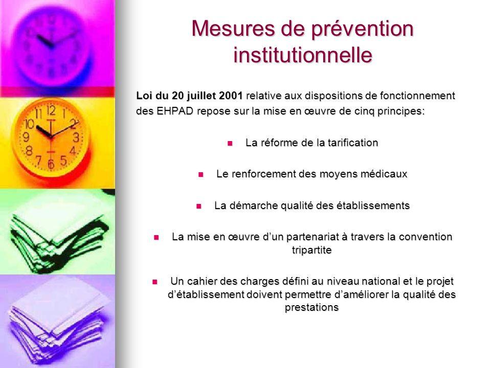 Mesures de prévention institutionnelle