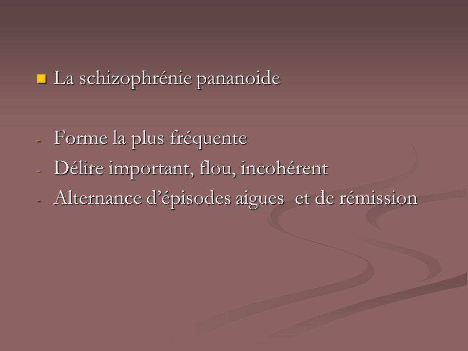 La schizophrénie pananoide