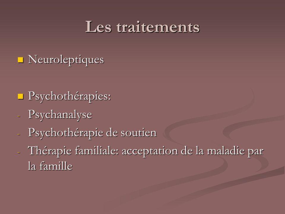 Les traitements Neuroleptiques Psychothérapies: Psychanalyse