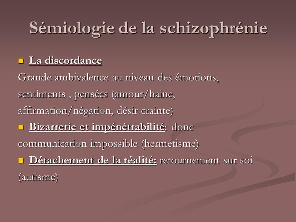 Sémiologie de la schizophrénie