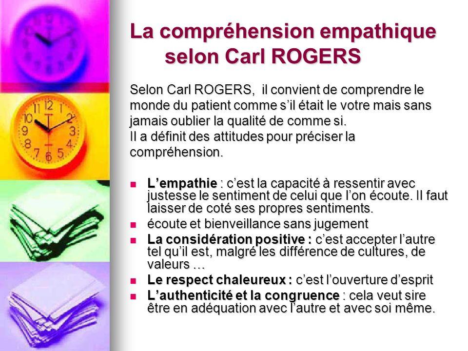 La compréhension empathique selon Carl ROGERS