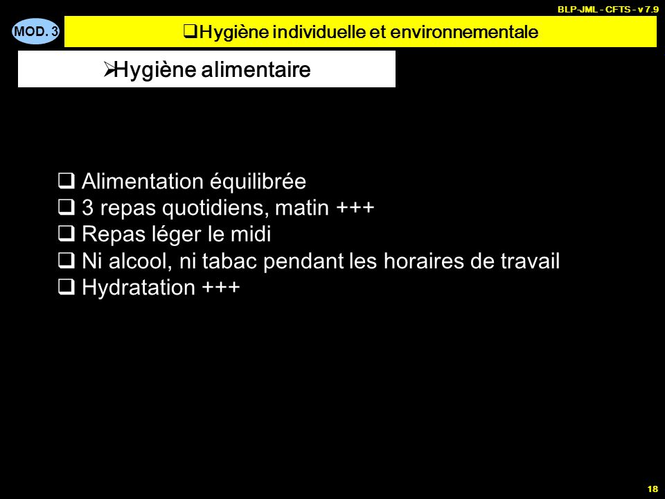 Hygiène individuelle et environnementale