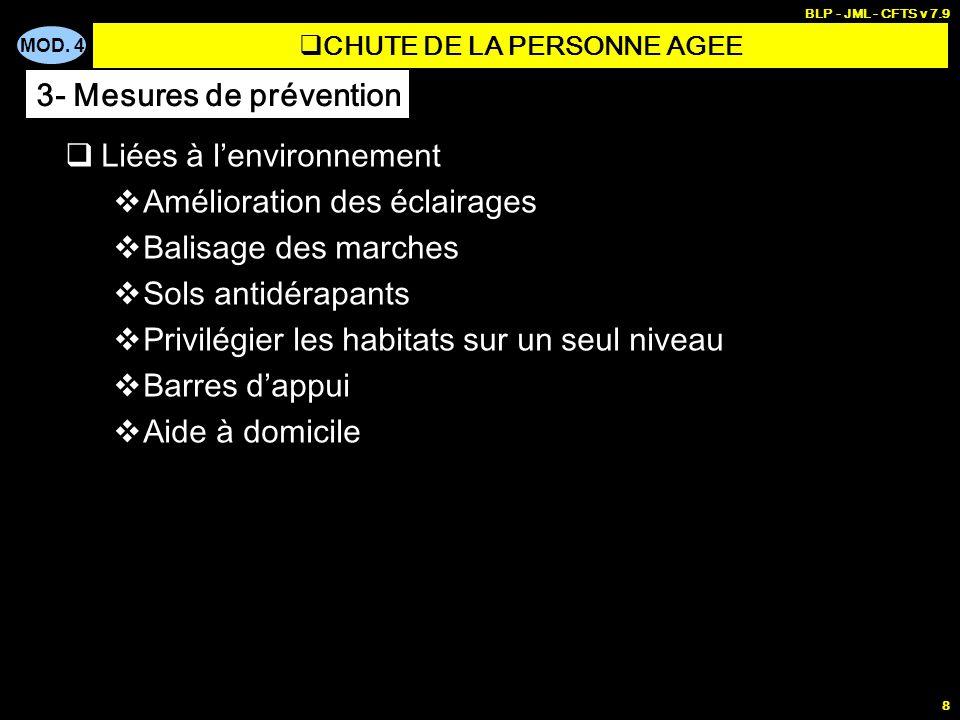 CHUTE DE LA PERSONNE AGEE