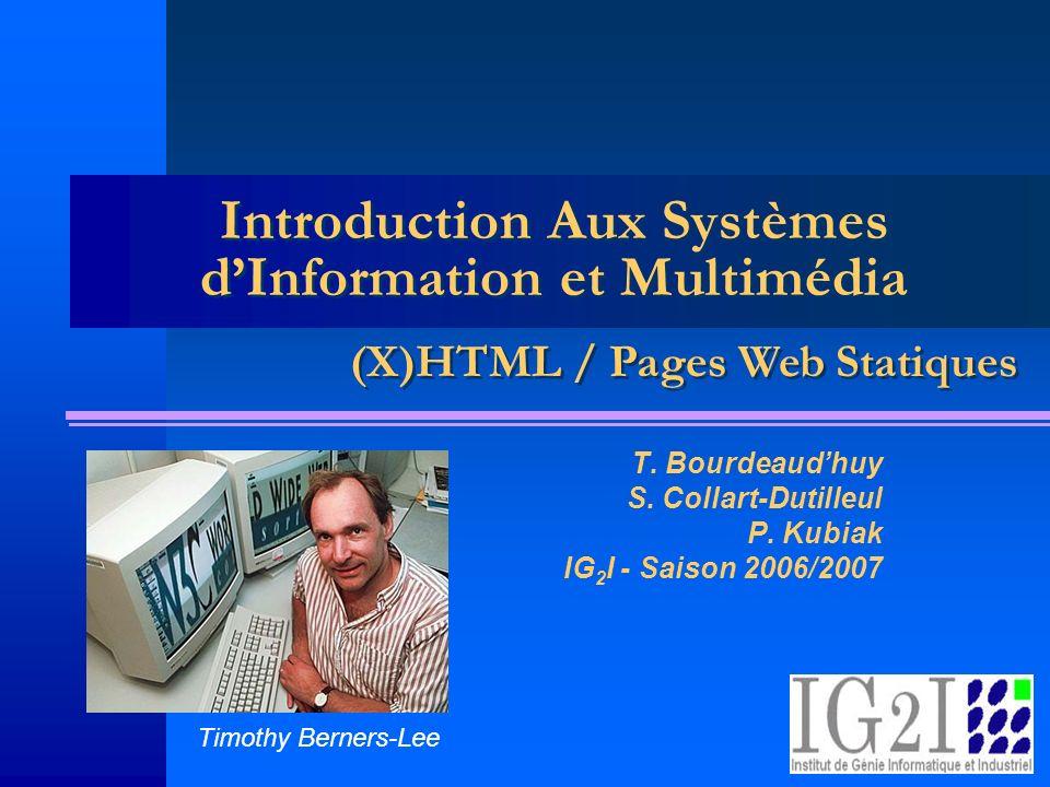 Introduction Aux Systèmes d'Information et Multimédia
