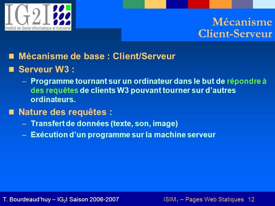 Mécanisme Client-Serveur