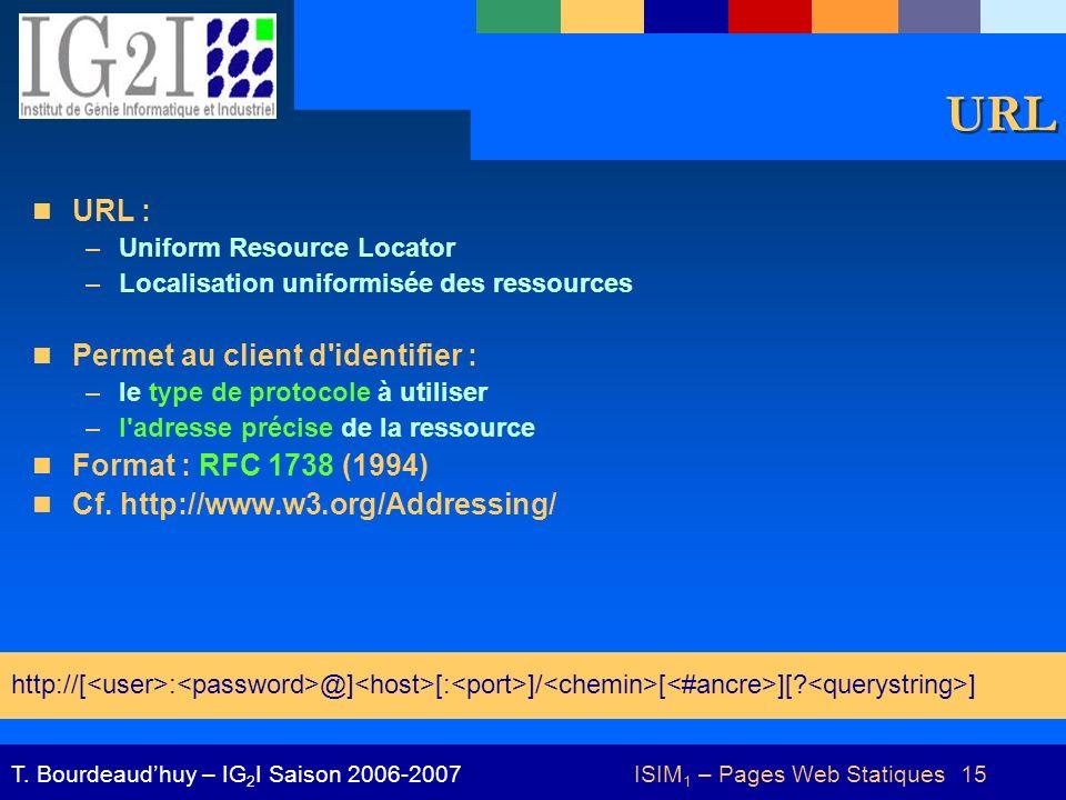ISIM1 – Pages Web Statiques 15