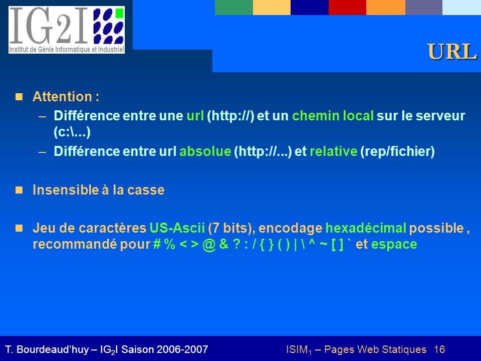 ISIM1 – Pages Web Statiques 16