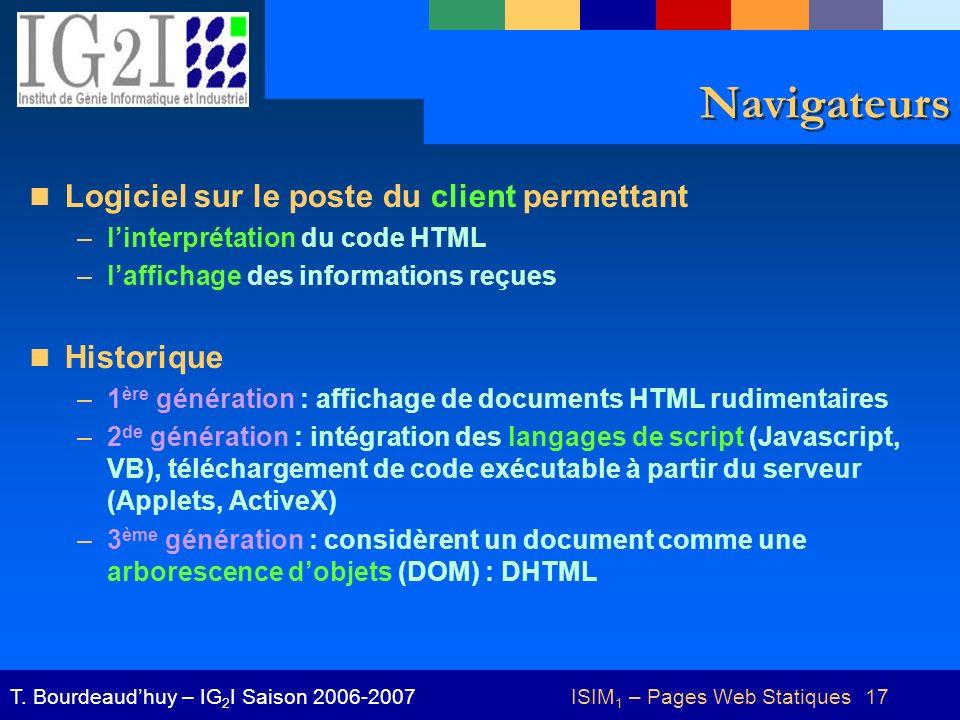 ISIM1 – Pages Web Statiques 17
