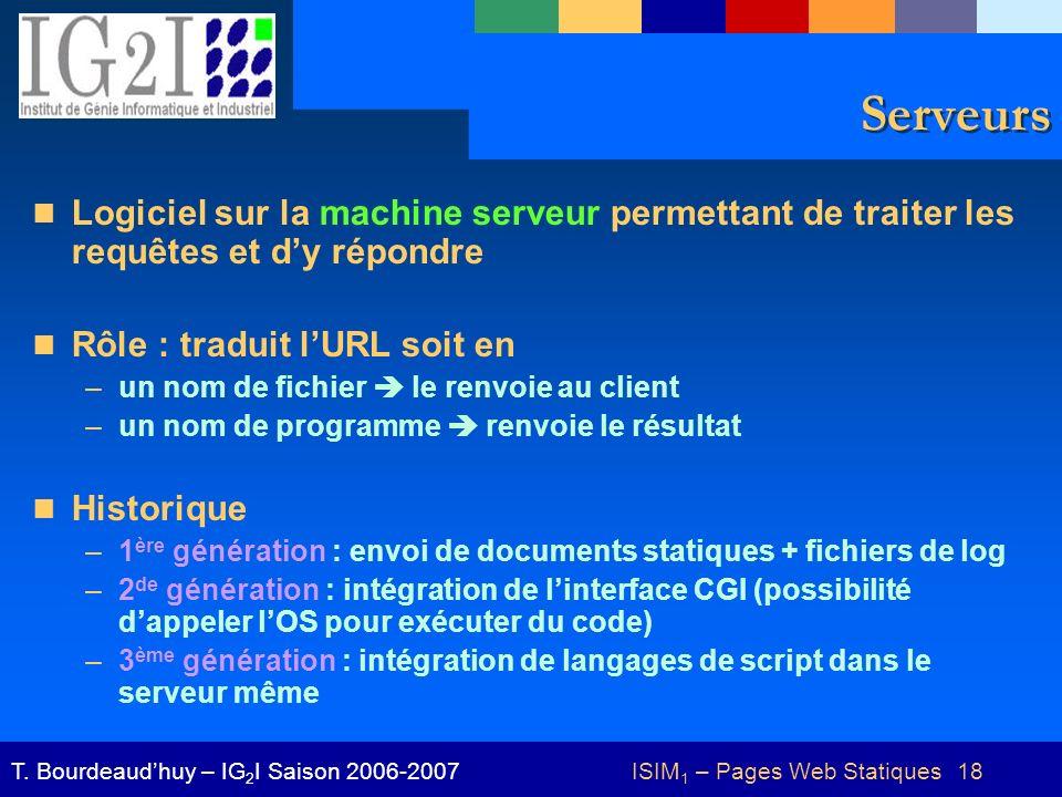 ISIM1 – Pages Web Statiques 18