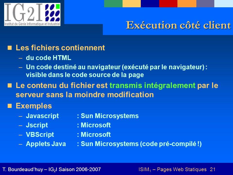 ISIM1 – Pages Web Statiques 21