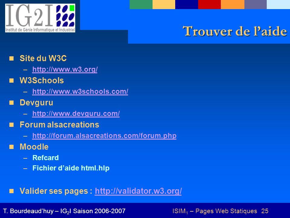 ISIM1 – Pages Web Statiques 25