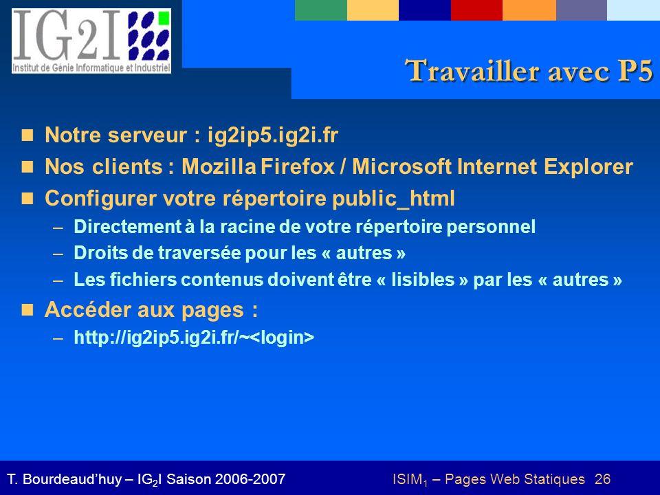 ISIM1 – Pages Web Statiques 26