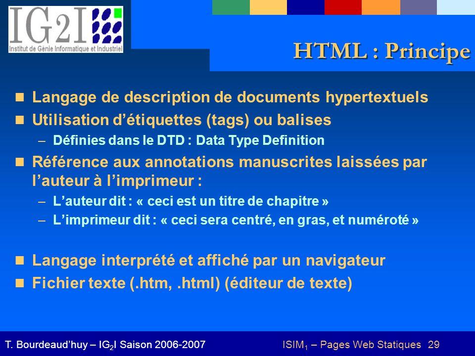 ISIM1 – Pages Web Statiques 29