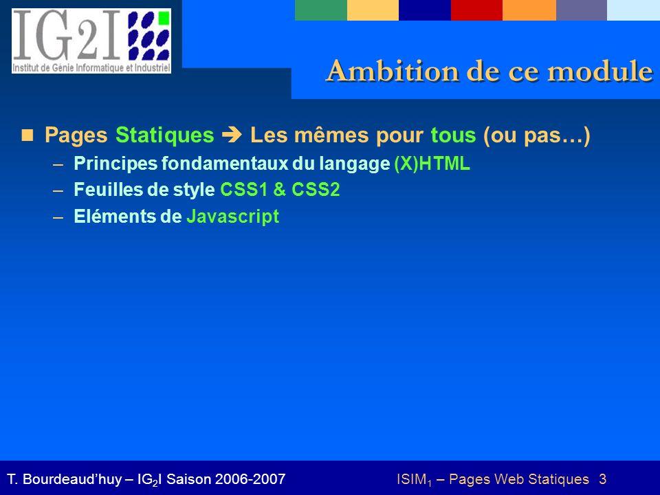 ISIM1 – Pages Web Statiques 3