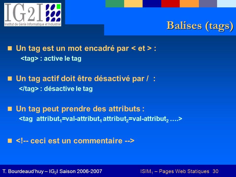 ISIM1 – Pages Web Statiques 30